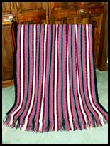 Textured Stripes Throw
